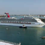 Another shot of the Carnival Freedom in Venice.