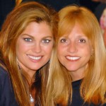 Vicki Freed with Kathy Ireland, Godmother of the Carnival Freedom
