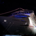 Carnival Freedom at Night