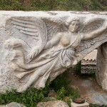 Statue of the goddess Nike in Ephesus