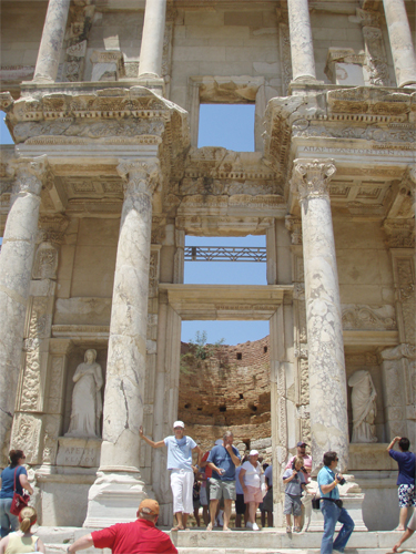 Finally for today and also from Ephesus is the statue of the Goddess Nike. Look carefully and you can see where the Nike symbol comes from