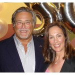 Here is Roberta with Carnival's Chairman and CEO. Micky Arison celebrating Roberta's 30 years of service
