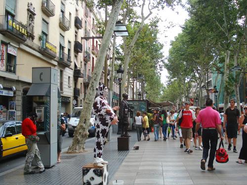 3. Barcelona's main street La Rambla