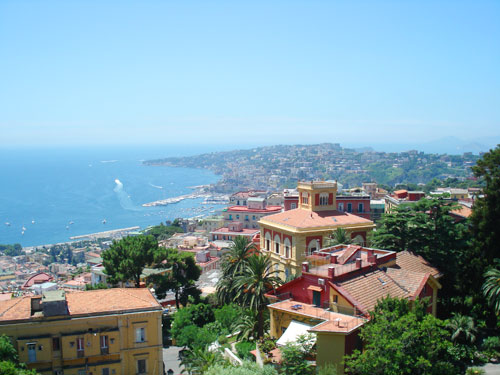 NAPLES…………..THE VIEW FROM ABOVE THE CITY