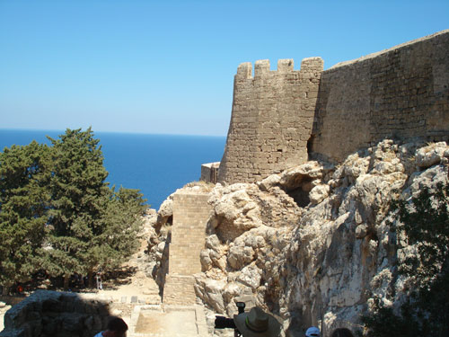 2. THE KNIGHTS OF SAINT JOHN BUILT THESE WALLS THAT SURROUND RHODES, GREECE