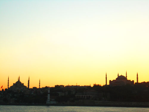 3 The Hagia Sofia and the Blue Mosque.
