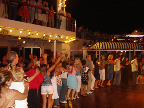 1.THE DECK PARTY AND CONGA LINE