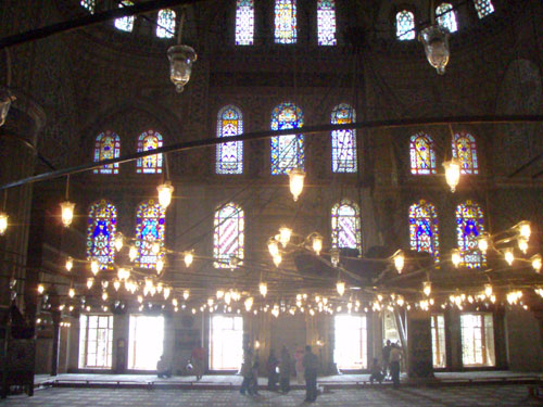 7. Inside the Blue Mosque