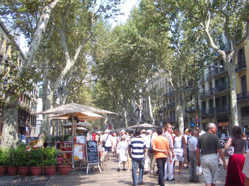 3. La Rambla………very busy today