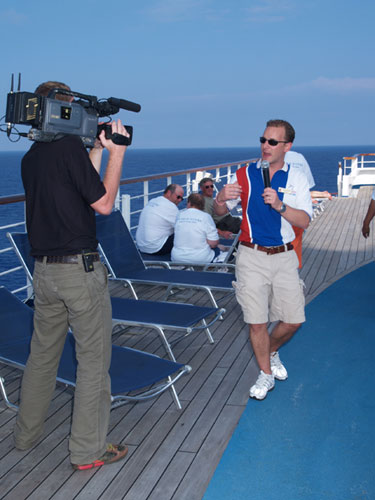 Chris Jefferson who is the Cruise Director of the Carnival Valor