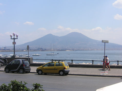 1. The View From The Restaurant with Vesuvius in the background