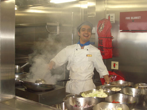 5. Chef Katut preparing Chinese Food