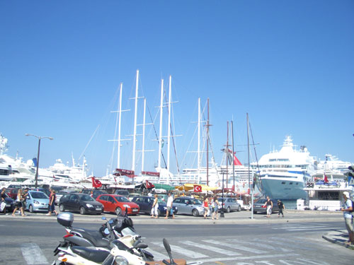 4. A BUSY DAY IN PORT WITH SEVEN SHIPS IN.