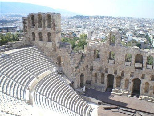 1.The Amphitheatre at Athens.
