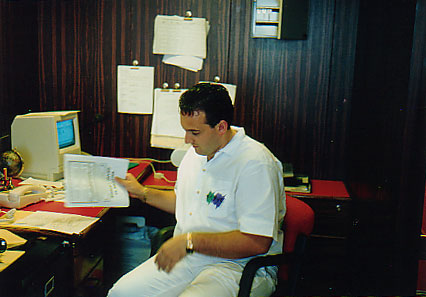 Here now is the photo of me taken way back in 1994 on the Sensation…………..check out the computer……………don't I look good in white?