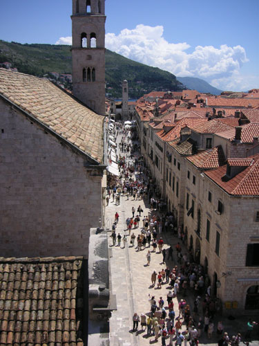 4. The main street in Old Town Dubrovnik