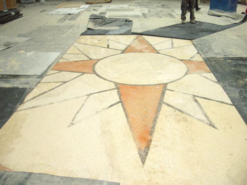 9. The floor of the Winter garden….uncovered!