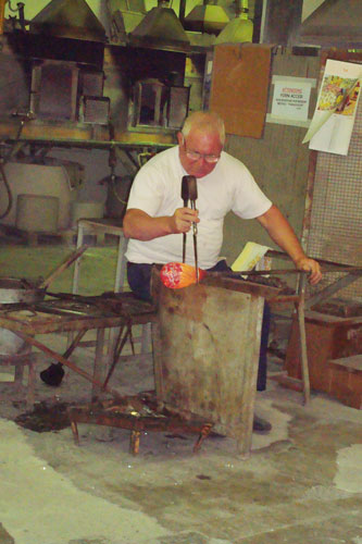 3.  Master Glass Blower at the Murano Factory
