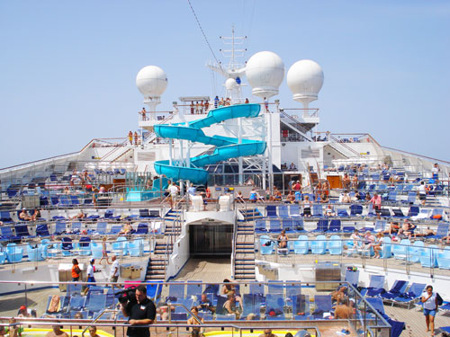 4. Lido Deck in the sun