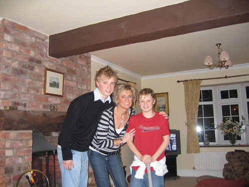 MRS. TINA WARNER with sons Tom and Charlie