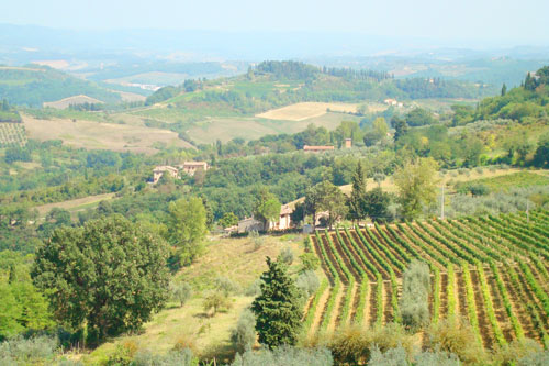 3. The gorgeous Tuscan countryside