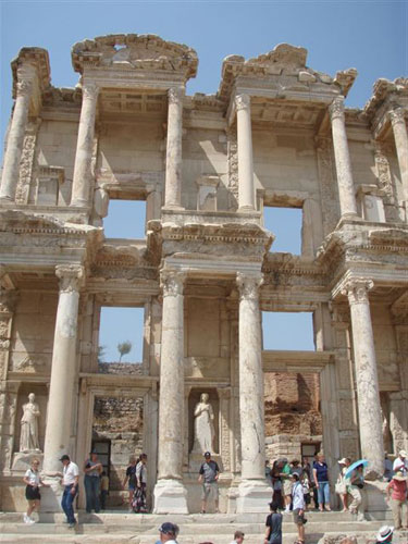 2. Off to Ephesus with photos taken by one of our dancers Ian, starting with the Great Library