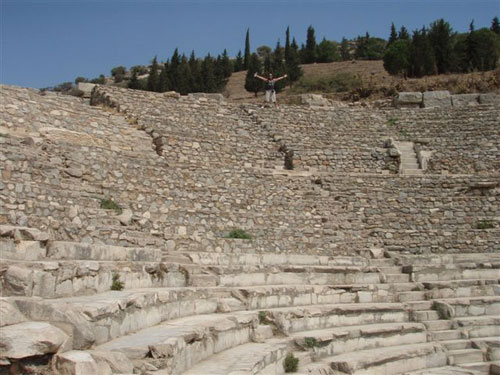 3. The Ampitheatre (that's Ian at the Top)