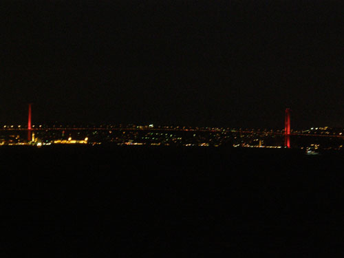 2.  The suspension bridge at night - Europe on one side, Asia on the other