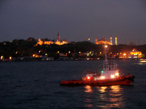4. From left to right Topkapi Palace, Hagia Sophia and the Blue Mosque
