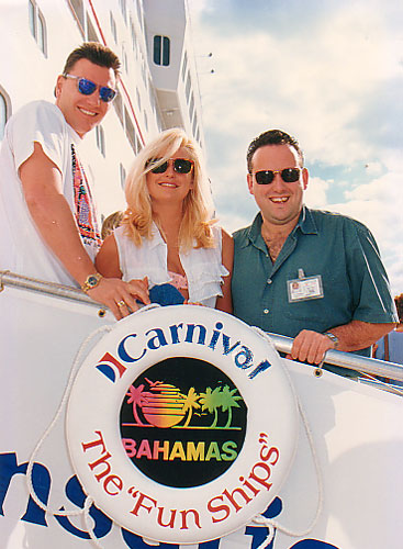 Here is a photo I found of my sister Suzanne, Paul her husband and me on the Sensation from 1994 - I think.