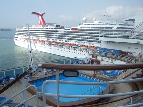 THE EMERALD PRINCESS AND THE CARNIVAL FREEDOM