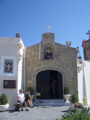 1. A small Greek Orthodox Church