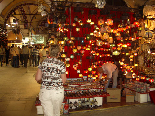 4. One of the 4,000 shops in the Grand Bazaar………anybody want to buy a lamp?