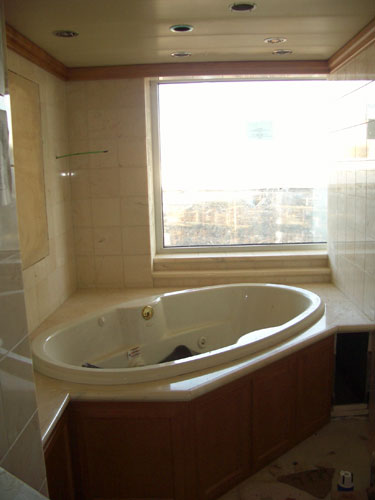 3. The bathtub in one of the Mega Suites