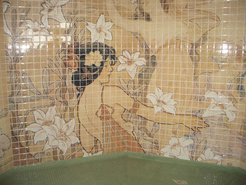 8. A beautiful mosaic in the Spa
