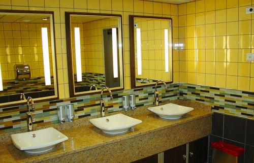 Updated restrooms