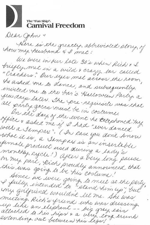 Interesting letter