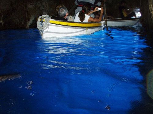 2. Inside the Famous Blue Grotto