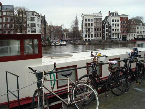 There are lots of bikes in Amsterdam……..everywhere…..