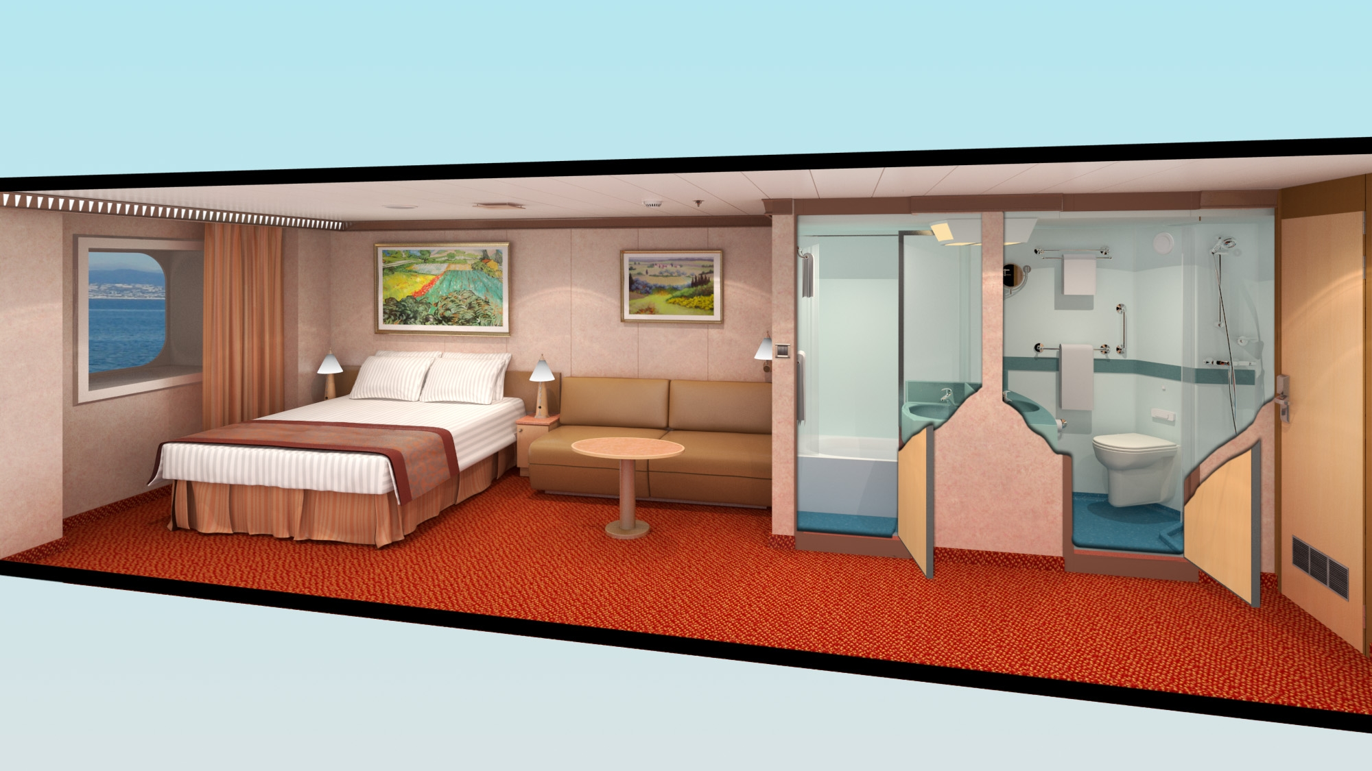 Carnival Dream Stateroom Floor Plans