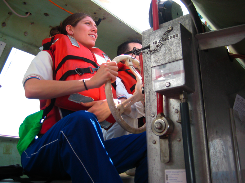 jaime-driving-a-life-boat-during-training-last-year