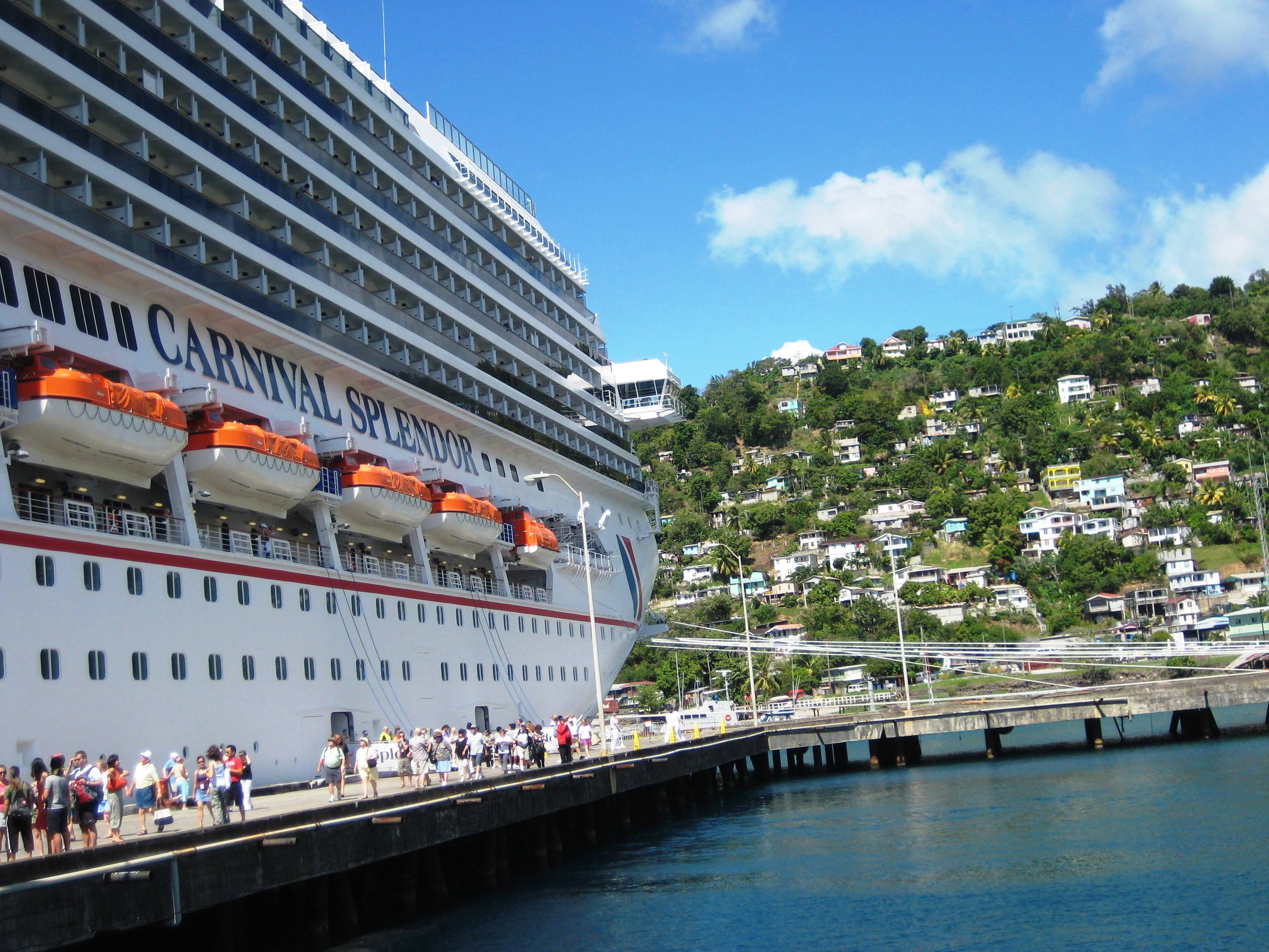 the-carnival-splendor-docked-in-dominica