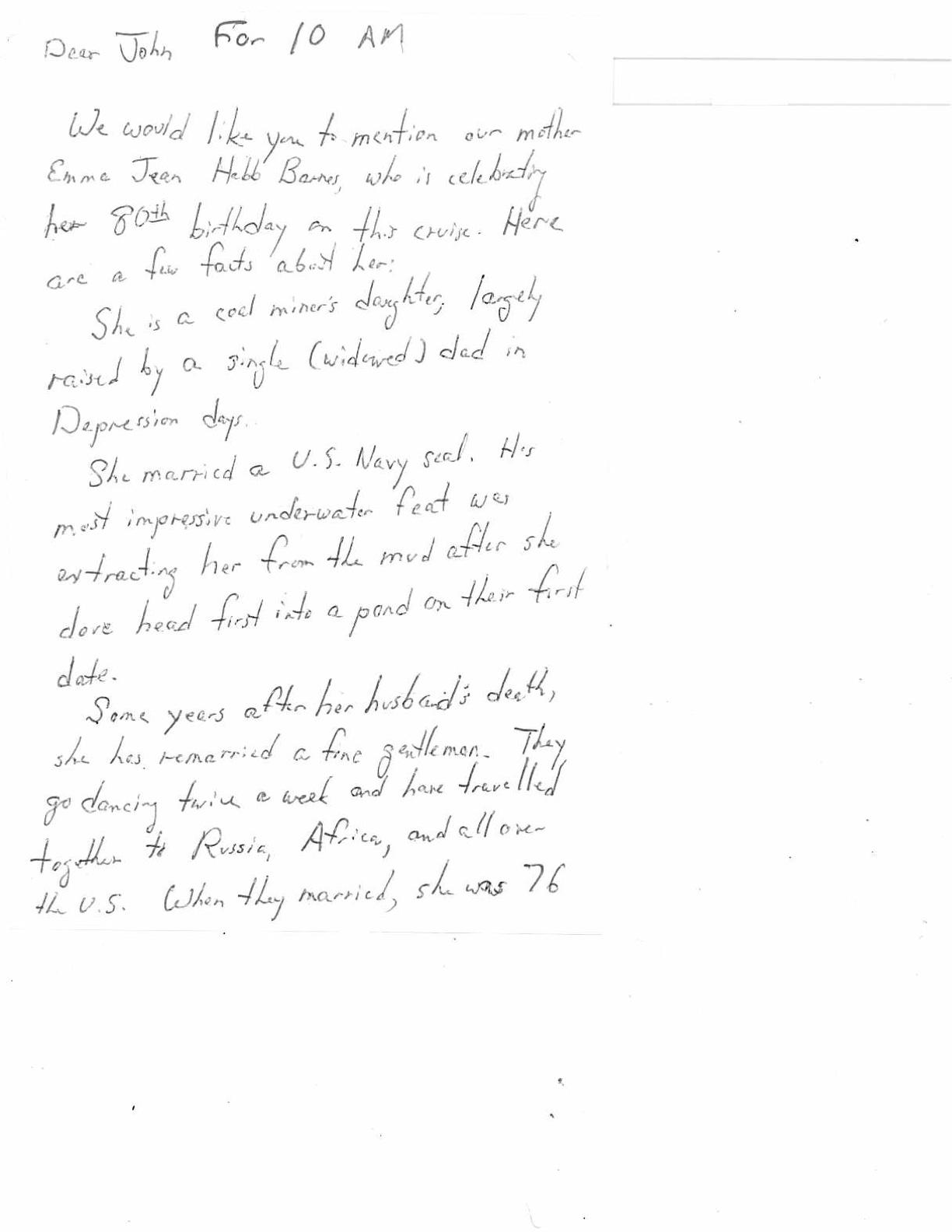 Letter- July 2