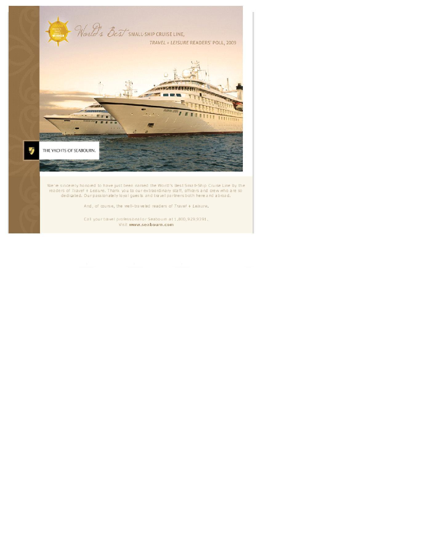 Seabourn Certificate