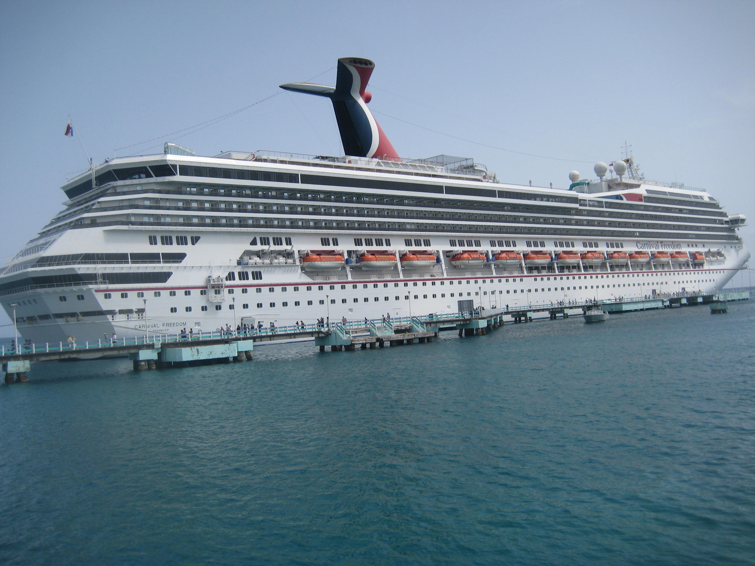The Carnival Freedom Docked in Ocho Rios 1