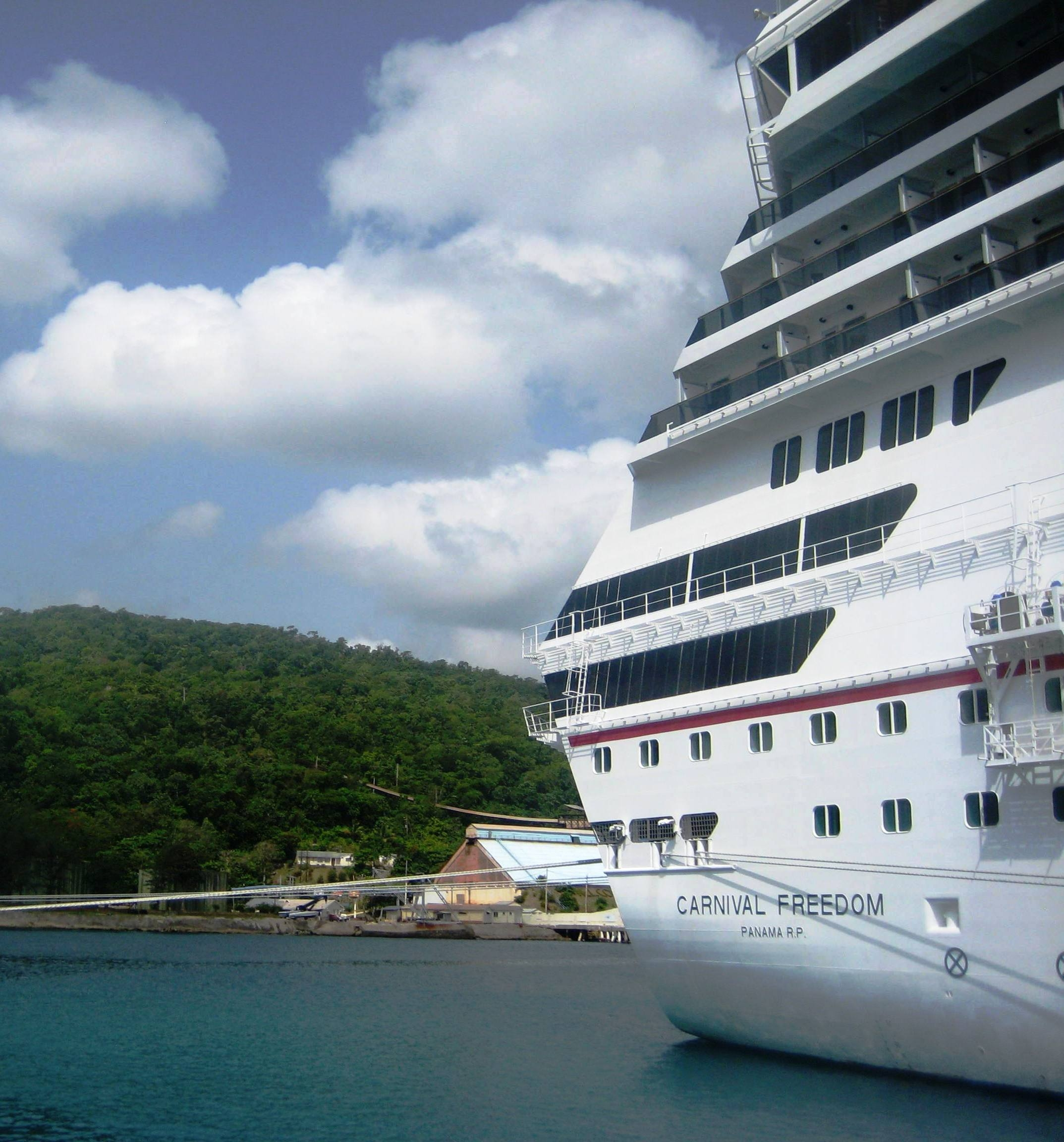 The Carnival Freedom Docked in Ocho Rios 2