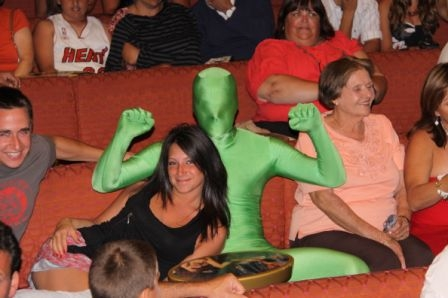 Guy in green suit