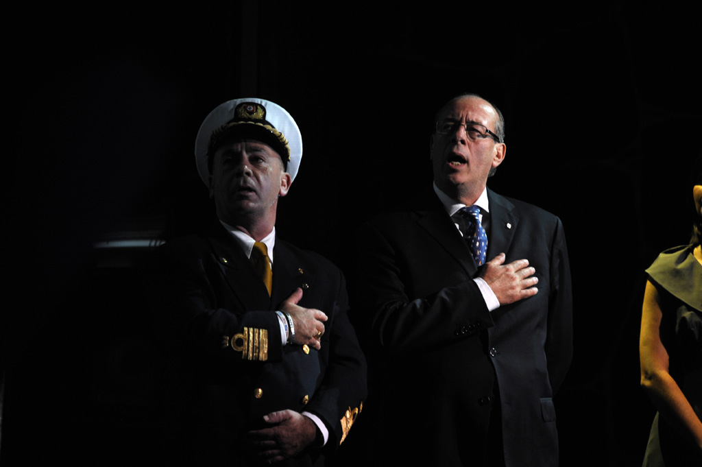 CAPTAIN CARLO QUEIROLO AND FINCANTIERI YARD DIRECTOR CAPOBIANCO