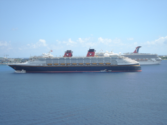 ... along with the Carnival Valor we have a Disney ship here as well………….all ...