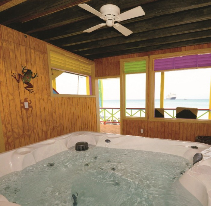 Jacuzzi room in the new Beach Villas at Half Moon Cay